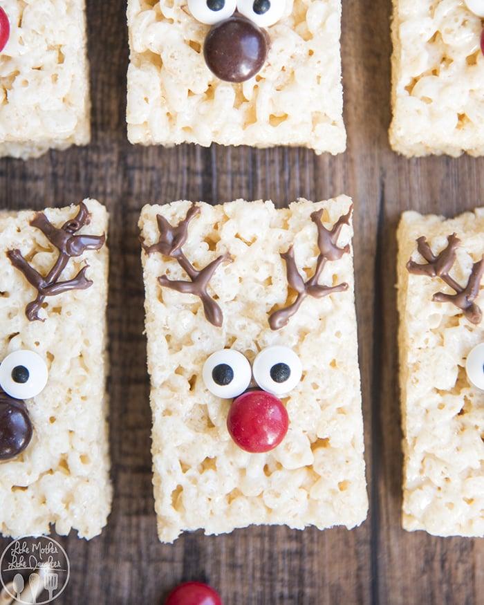 Christmas Reindeer Rice Krispie Treats