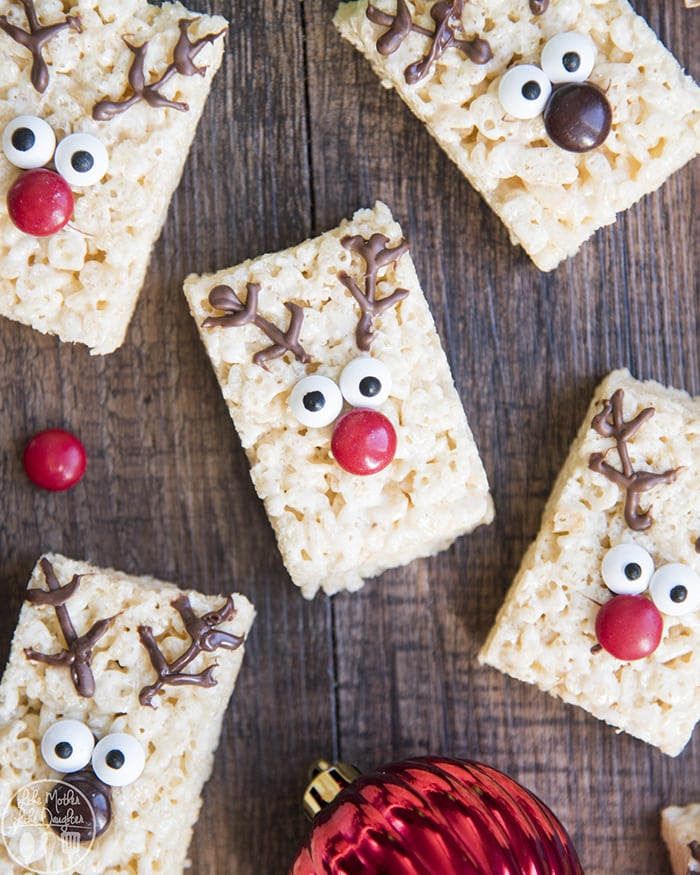 Reindeer Rice Krispie Treats are such a cute Christmas treat