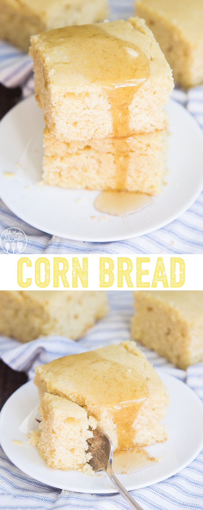 This sweet corn bread is a perfect soft, moist and fluffy corn bread, that can be made in just 30 minutes!
