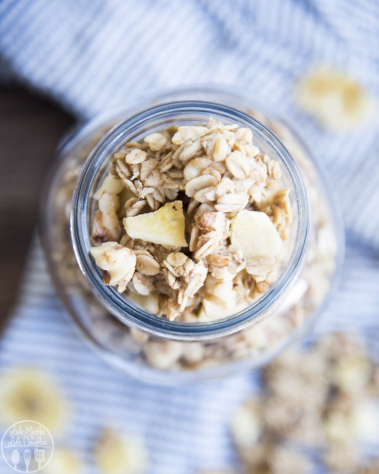 Banana Nut Granola with walnuts and banana chips