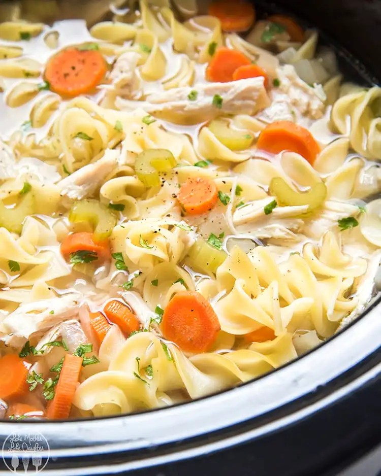 This slow cooker chicken noodle is so heart, comforting, delicious, and so easy to make! It's classic homemade chicken noodle soup made in the crockpot!