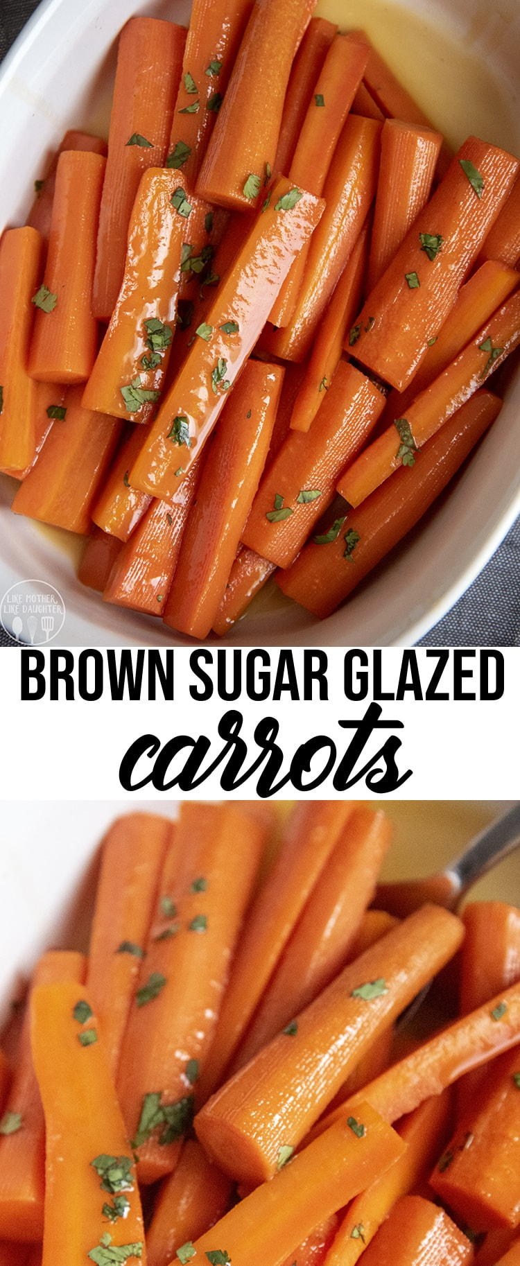 These brown sugar glazed carrots, are covered in a sweet butter and brown sugar glaze. They are the perfect side dish, and you may even find yourself snacking on them before dinner starts. #Easter #Thanksgiving #SideDish #Carrots