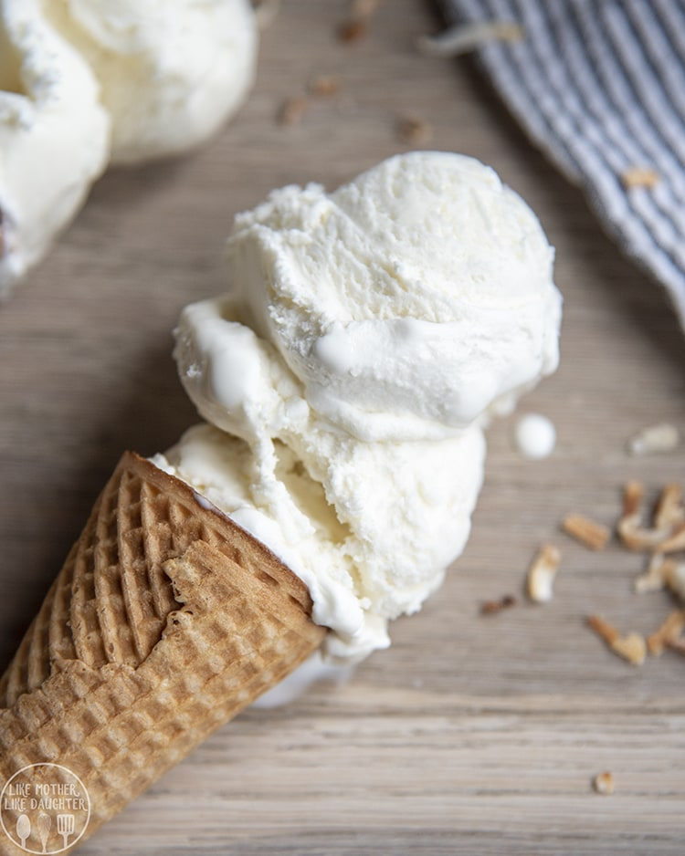 Creamy Coconut Ice Cream with only 4 ingredients
