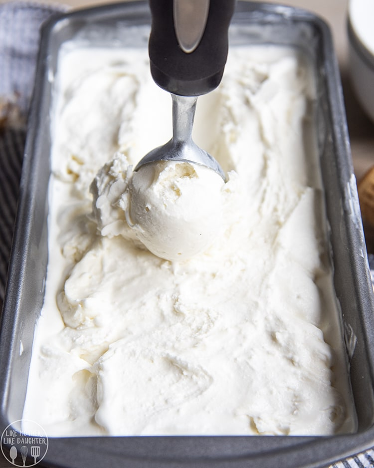 Homemade Creamy Coconut Ice Cream