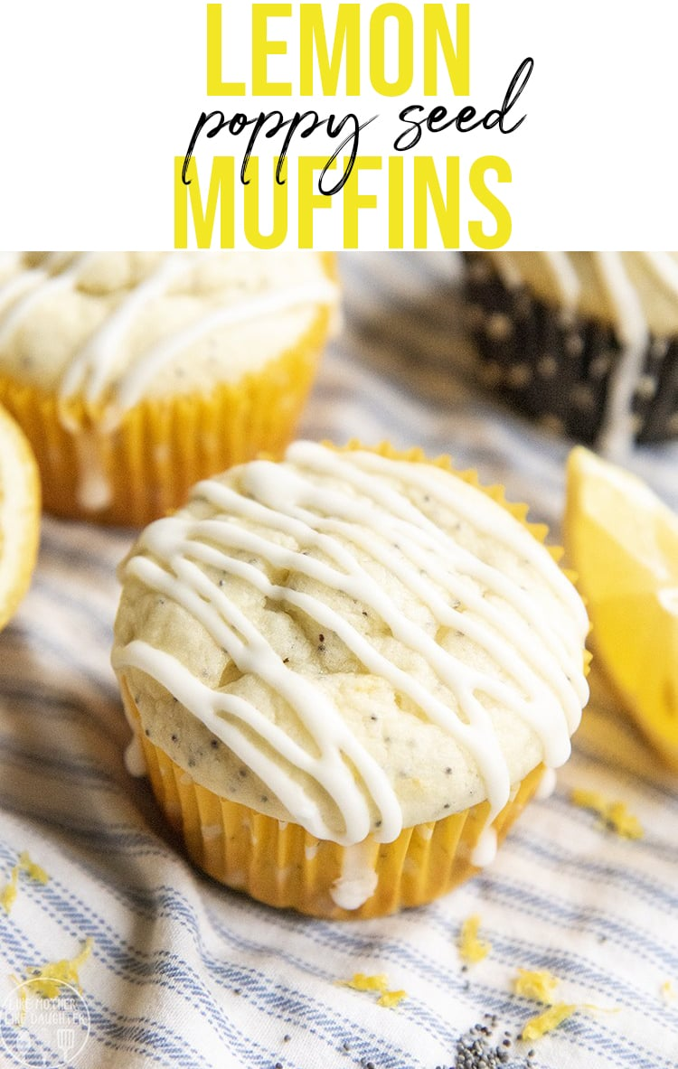 These lemon poppy seed muffins taste just like you'd get from a bakery, with a tender, moist, lemon muffin, topped with the best tangy lemon glaze.