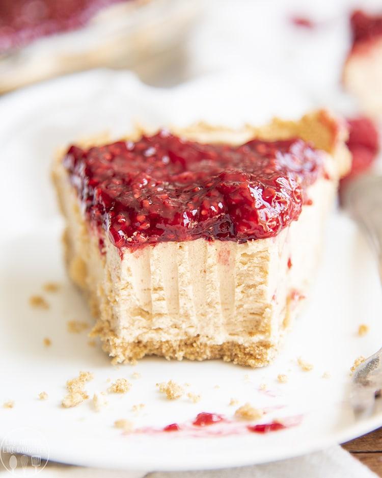 Raspberry Peanut Butter Pie