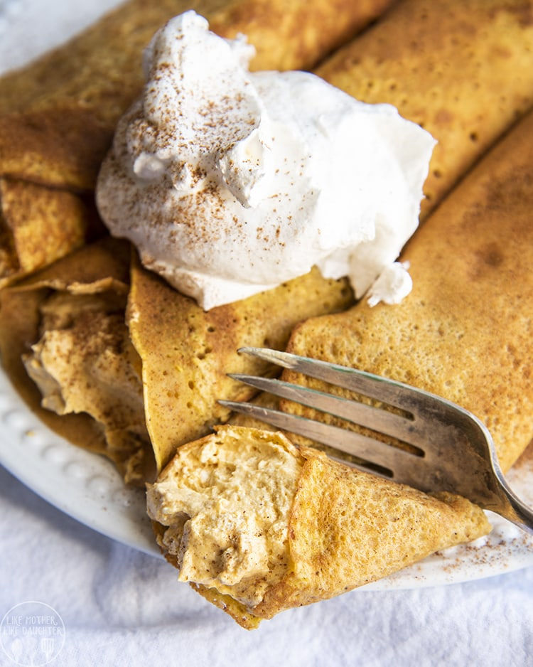 Pumpkin Crepes are the perfect fall breakfast!