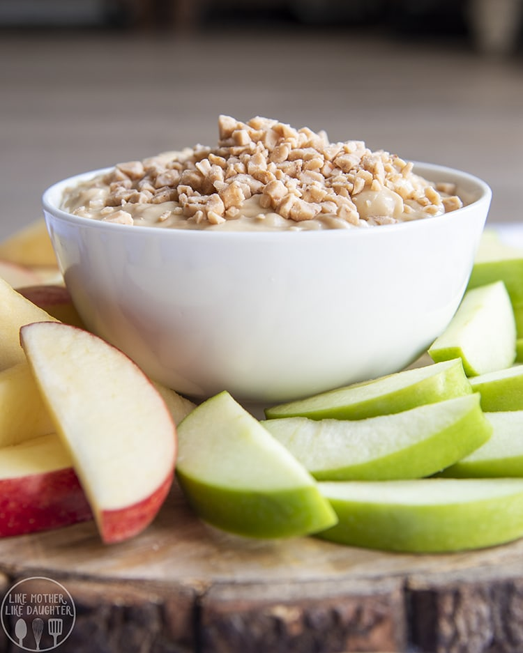 Toffee Dip served with apple slices