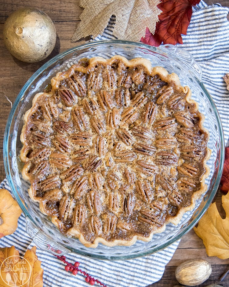 A whole pecan pie is perfect for Thanksgiving dessert