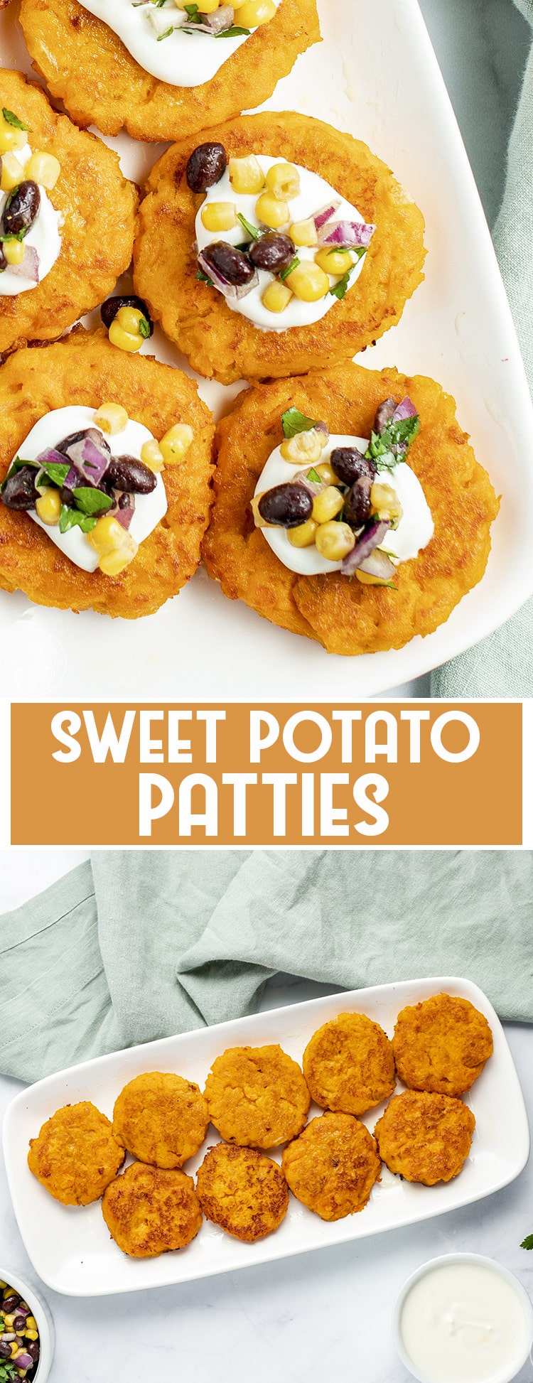 These sweet potato patties are mashed into crispy flavorful patties, that are perfect for a vegetarian meal or side dish.