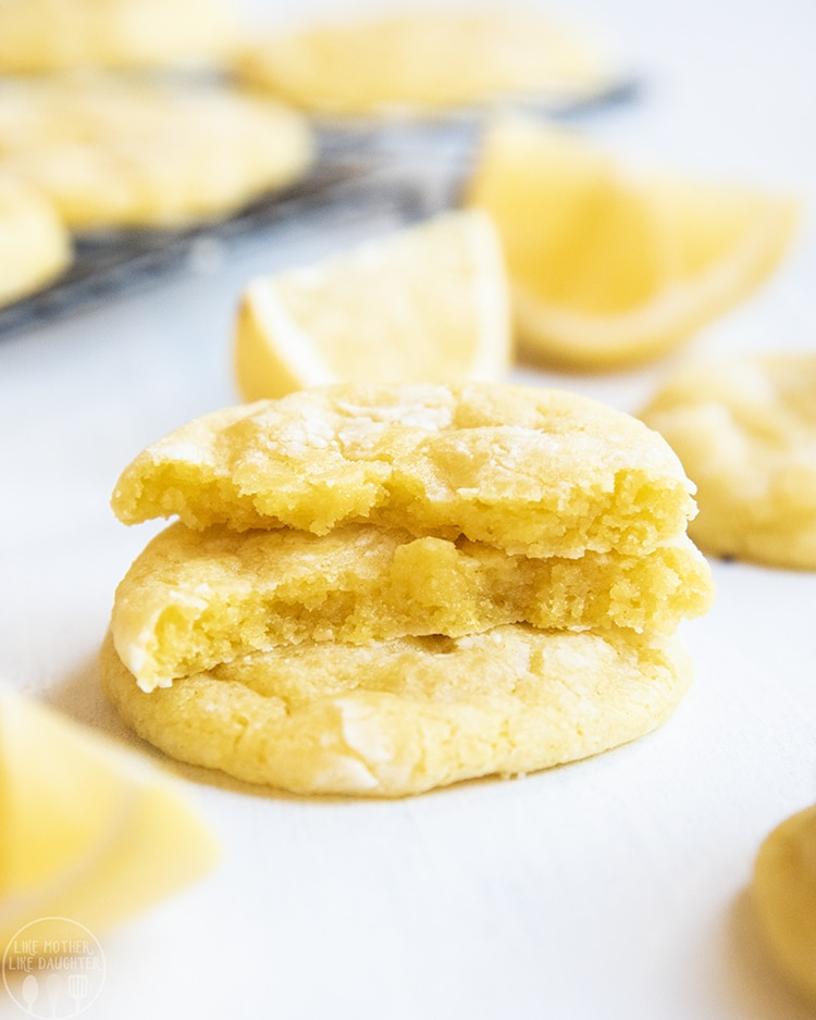 A chewy soft lemon cookie