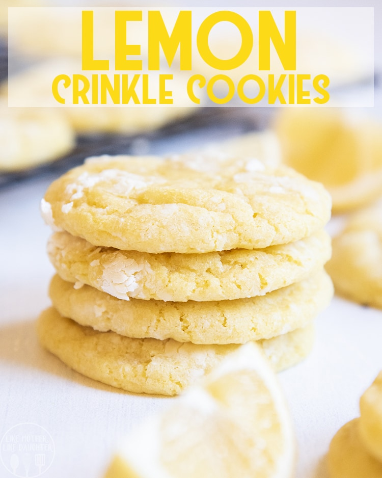 These lemon cookies are soft and chewy cookies, with the perfect tangy and sweet lemon flavor in every single bite!