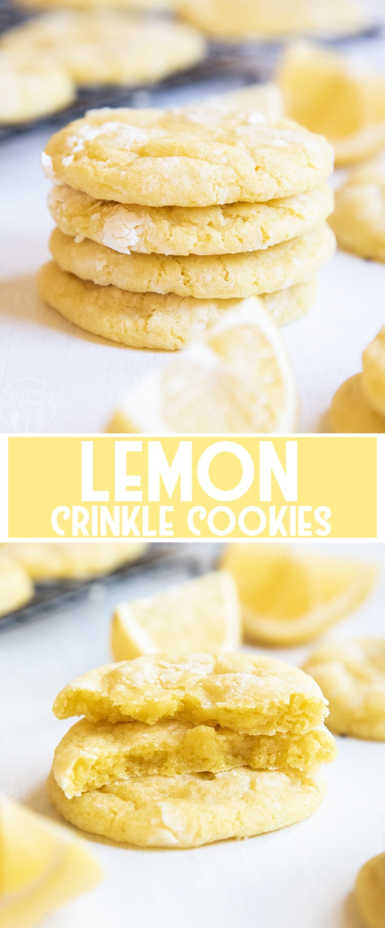 These lemon crinkle cookies are soft and chewy cookies, with the perfect tangy and sweet lemon flavor in every single bite!