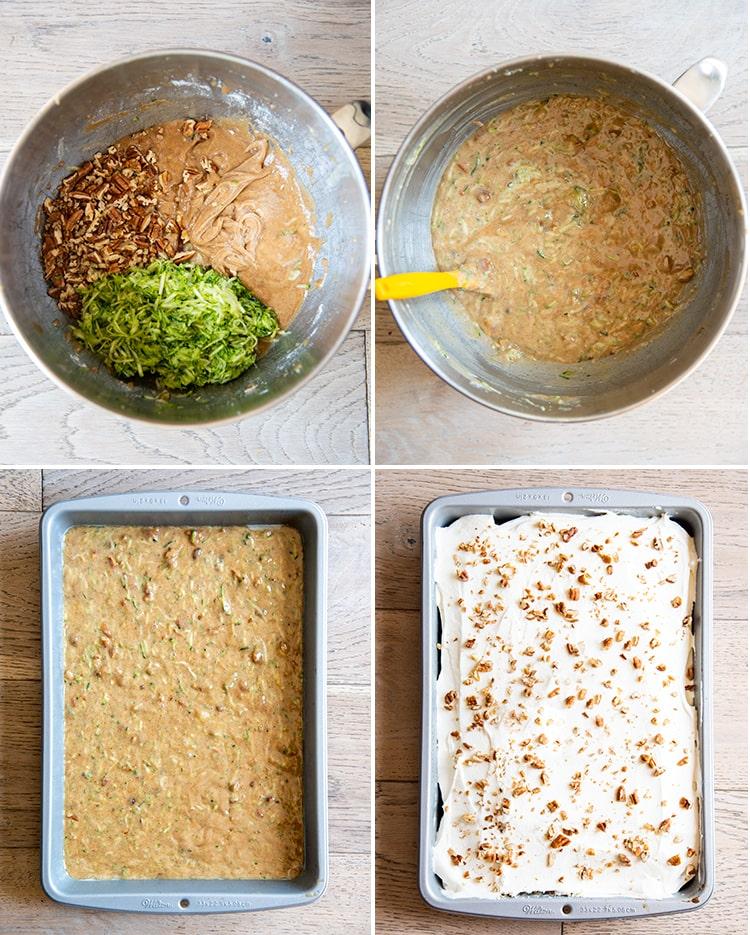 How to make zucchini cake.