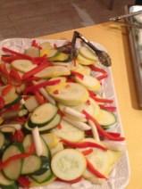 Steamed vegetables.