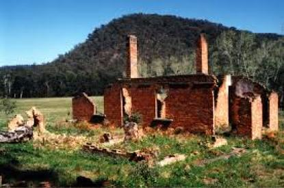 Ruins in Joadja, NSW. From here.