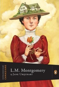 Cover art for Jane Urquhart's biography /L.M. Montgomery/, published as part of the Extraordinary Canadians series by Penguin Canada.