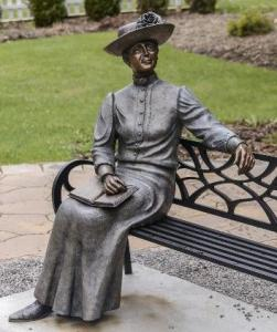 Photograph of a statue of L.M. Montgomery