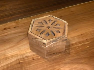 Hexagon Box with decorative cut out