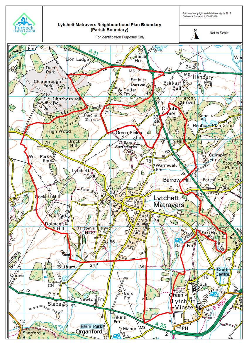 Registered boundary for the purposes of the plan