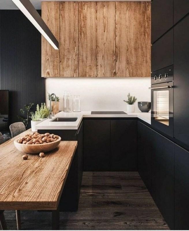 10 Stylish Black Kitchen Interior Design Ideas For Kitchen 12