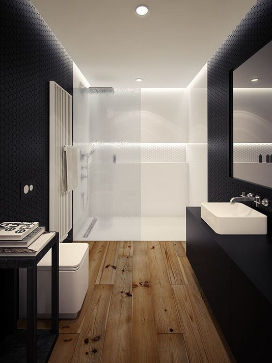 11 Luxurious Wooden Shower Floor Tiles Designs Ideas For Bathroom Remodel 13