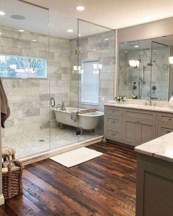 11 Luxurious Wooden Shower Floor Tiles Designs Ideas For Bathroom Remodel 34