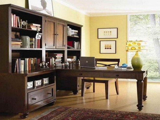 13 Elegant Dark Table Designs Ideas For Home Office 32