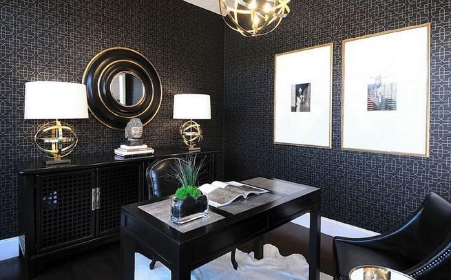 13 Elegant Dark Table Designs Ideas For Home Office 43