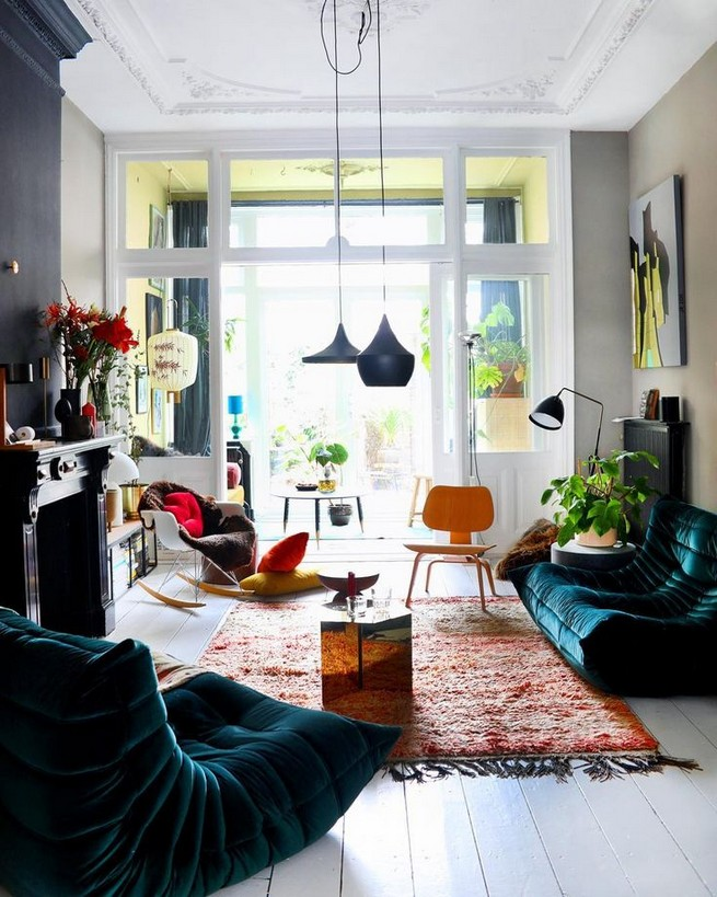 14 Incredible Colorful Bohemian Living Room Ideas For Inspiration 76