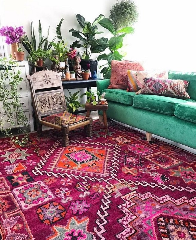 Colorful Bohemian Rooms: 14+ Incredible Colorful Bohemian Living Room Ideas For