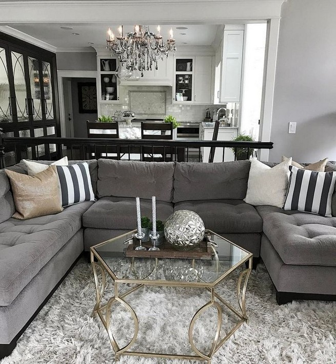 14 Relaxing Living Room Ideas With Black And White 10