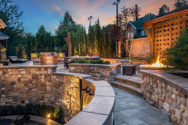 16 Delicate Garden Landscaping Design Ideas Using Rocks Stone 20