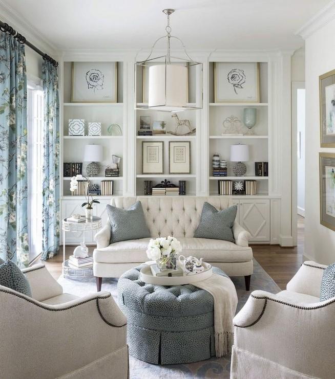 16 Elegant Living Room Shelves Decorations Ideas 26