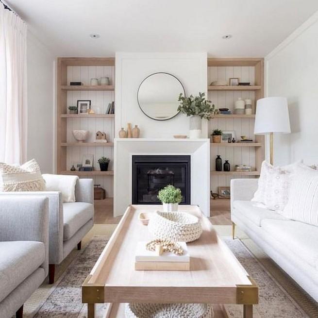 16 Elegant Living Room Shelves Decorations Ideas 31