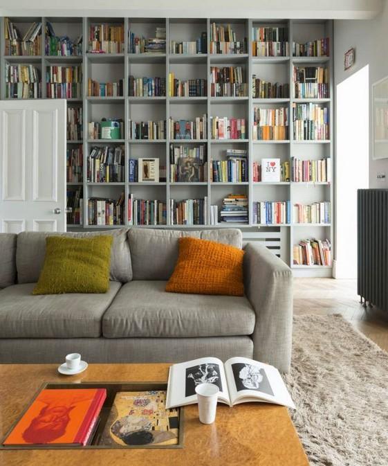 16 Elegant Living Room Shelves Decorations Ideas 62