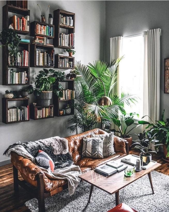 16 Elegant Living Room Shelves Decorations Ideas 63