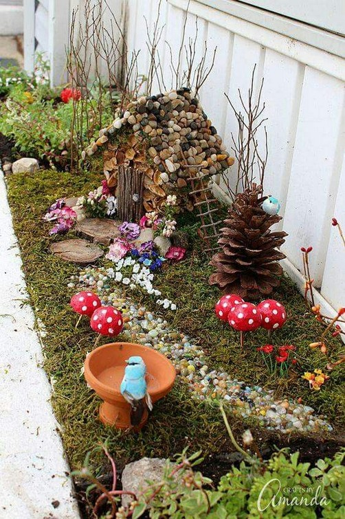 17 Beautiful Fairy Garden Plants Ideas For Around Your Side Home 32