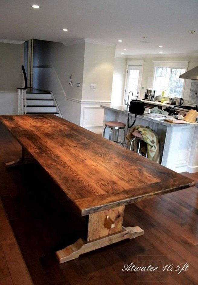 10 Astonishing Extra Large Rectangular Dining Tables Ideas 54