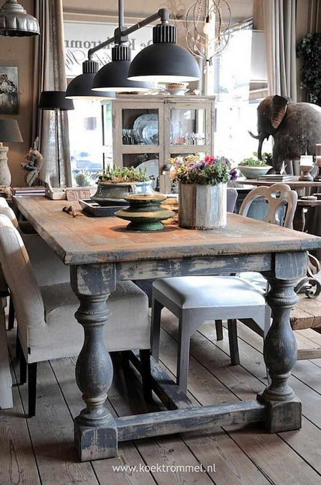 12 Creative Rustic Dining Room Design Ideas 25