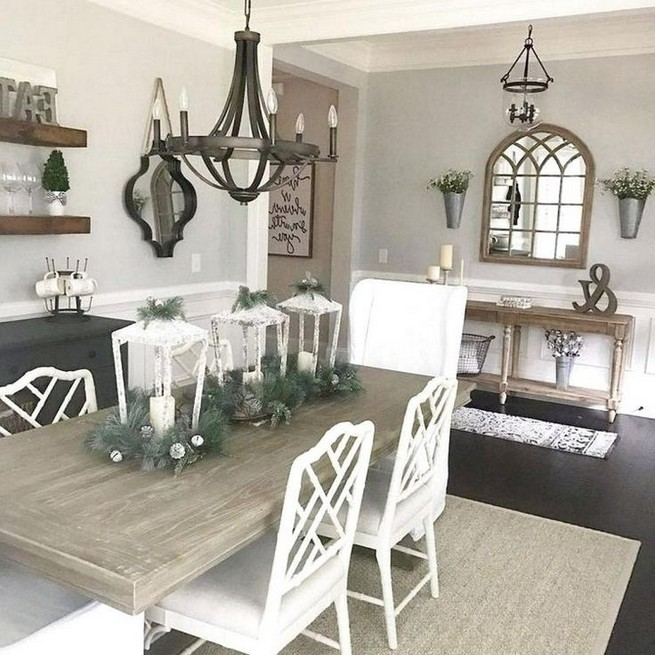 12 Creative Rustic Dining Room Design Ideas 37