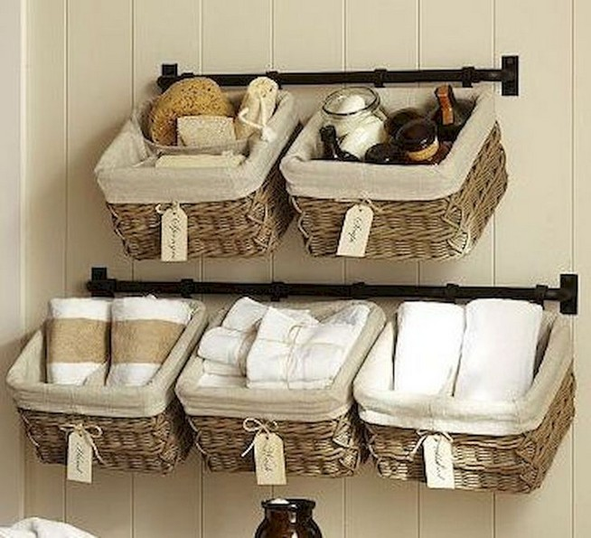 13 Creative Diy Wall Hanging Storage Ideas For Bathroom 13