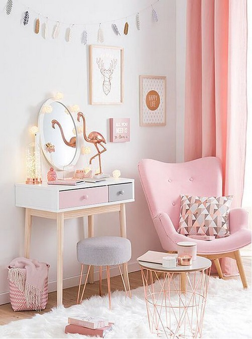 15 Cute Pink Bedroom Designs Ideas That Are Dream Of Every Girl 32