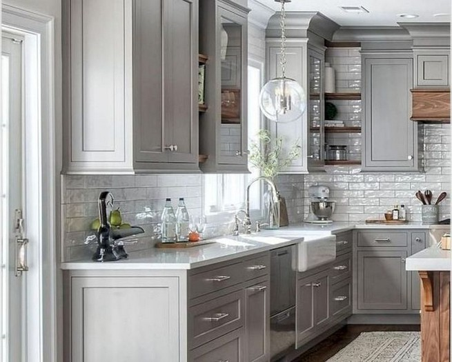 18 Awesome Modern Farmhouse Kitchen Cabinets Ideas 41