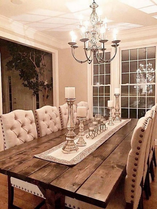 19 Fancy Farmhouse Dining Room Design Ideas 09