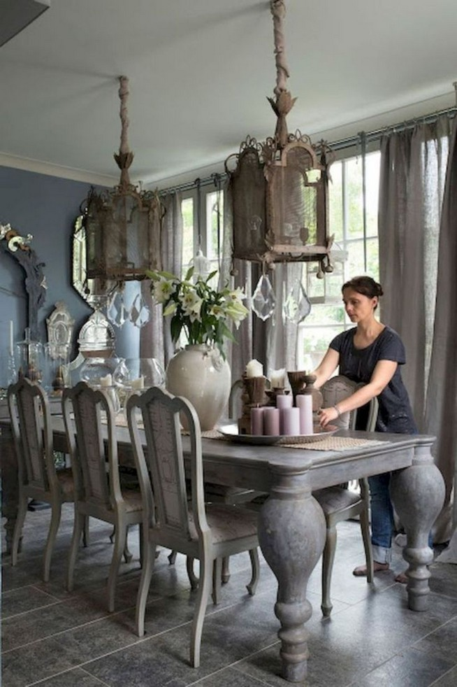 19 Fancy Farmhouse Dining Room Design Ideas 34
