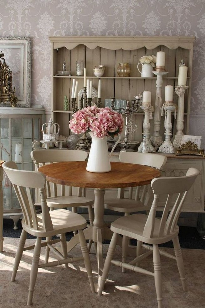 19 Fancy Farmhouse Dining Room Design Ideas 38