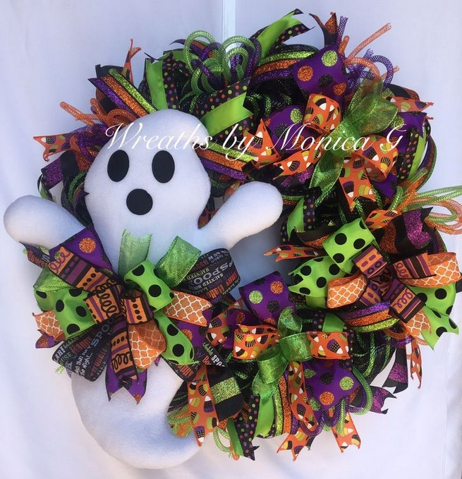 20 Adorable Diy Halloween Wreaths Design Ideas 12