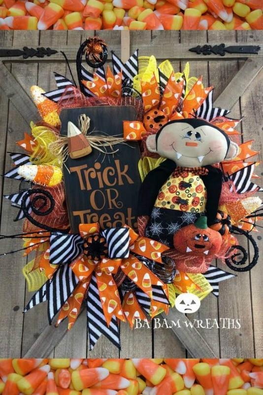 20 Adorable Diy Halloween Wreaths Design Ideas 46
