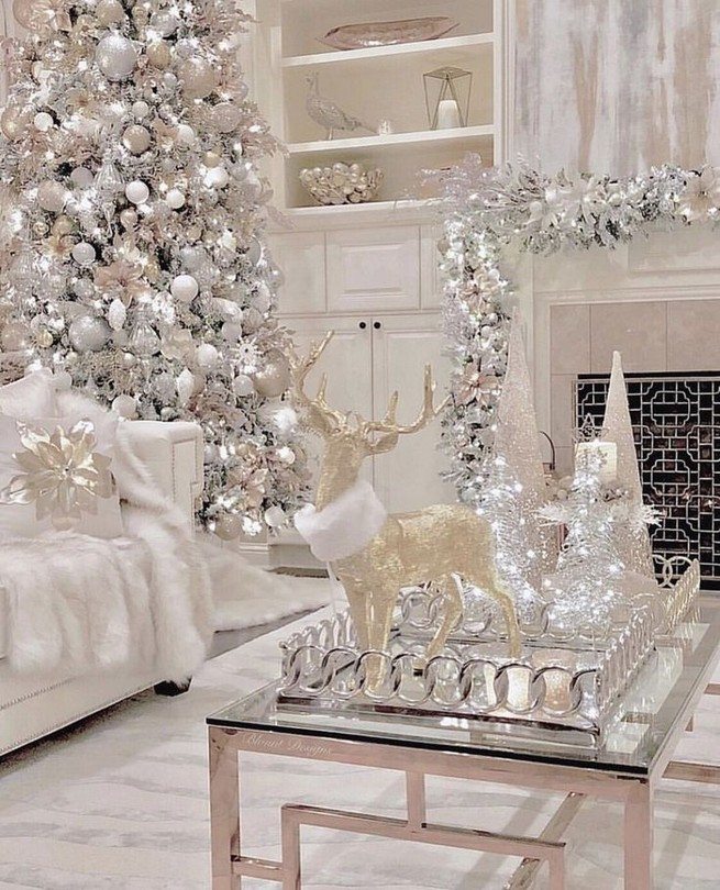 20 Elegant White Winter Wonderland Themed Decoration Ideas 17